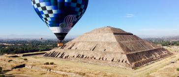 Hot Air Balloon Ride and Teotihuacan Tour with Transportation and breakfast